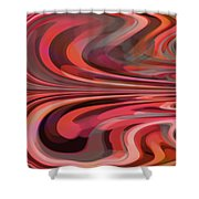 Orange Reflection Shower Curtain by Mihaela Stancu