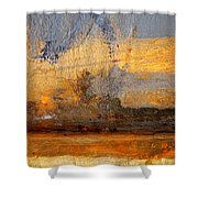 Orange Reluctance Shower Curtain