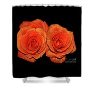 Orange Roses With Hot Wax Effects Shower Curtain