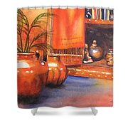 Orange Scarf Shower Curtain