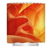Orange Silk Shower Curtain