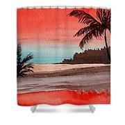 Orange Sky Of Kauai Shower Curtain