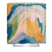 Orange Slush Shower Curtain