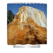 Orange Spring Mound Shower Curtain