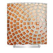 Orange Squares Shower Curtain