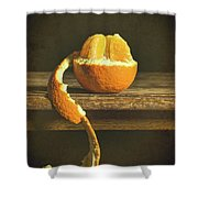 Orange Still Life Shower Curtain