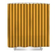 Orange Striped Pattern Design Shower Curtain