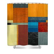 Orange Study With Compliments 3.0 Shower Curtain
