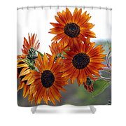 Orange Sunflower 1 Shower Curtain