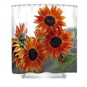 Orange Sunflower 1 Shower Curtain