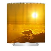 Orange Sunset - Haleakala Shower Curtain