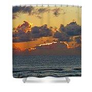 Orange Sunset Oregon Shower Curtain
