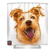 Orange Terrier Mix 2989 - Wb Shower Curtain
