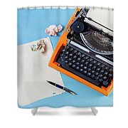 Letters To Remember Shower Curtain