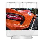 Orange Viper  Shower Curtain