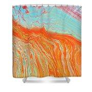 Tangerine Beach Shower Curtain