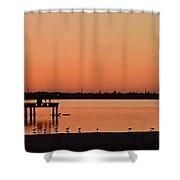 Orange Waters  Shower Curtain
