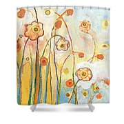 Orange Whimsy Shower Curtain