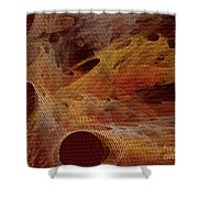 Orange With Texture Shower Curtain
