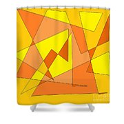 Orange You Banana Shower Curtain