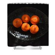 Oranges In Sunlight Shower Curtain