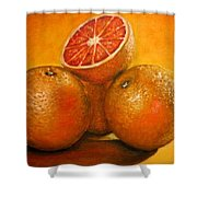 Oranges  Original Oil Painting Shower Curtain