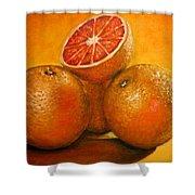 Oranges  Original Oil Painting Shower Curtain