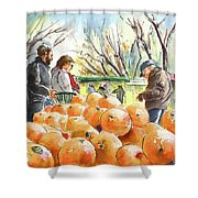 Oranges Seller In A Provence Market Shower Curtain