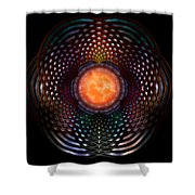 Orb Moon Rings Shower Curtain