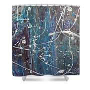 Orb Tracers Shower Curtain