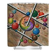Orbital Ker Plunk  Shower Curtain