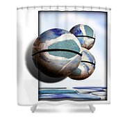 Orbiting Out Shower Curtain