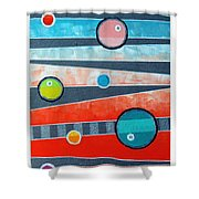 Orbs On Planes #2 Shower Curtain