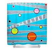 Orbs On Planes Shower Curtain