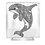 Orca Shower Curtain by Carol Lynne