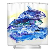 Orca Fantasy Shower Curtain