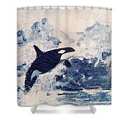Orca Glacier Shower Curtain