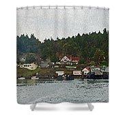 Orcas Island Dock Shower Curtain