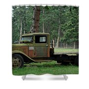 Orcas Island Old Truck Shower Curtain