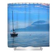 Orcas Sailboat Shower Curtain