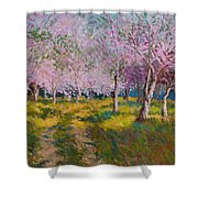 Orchard Light Shower Curtain