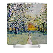 Orchard Path Shower Curtain