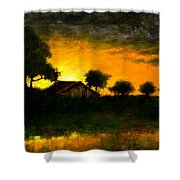 Orchard Sundown Shower Curtain
