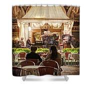 Orchestra At Ristorante Quadri On St Mark's Square - Venice Shower Curtain