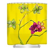 Orchid And Amarillo Shower Curtain