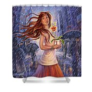 Orchid - Be Yourself Shower Curtain