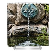 Orchid Fountian Shower Curtain