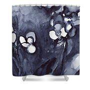 Orchid In Indigo Shower Curtain