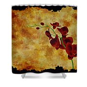 Orchid Interplay Shower Curtain