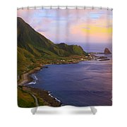 Orchid Island Shower Curtain